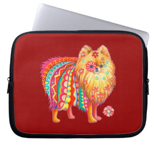 Cute Pomeranian Laptop Sleeve