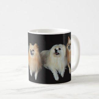 Cute Pomeranian Maltese Dogs Puppies Coffee Mug