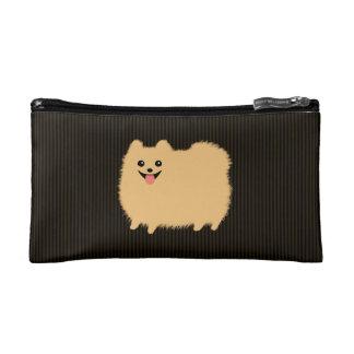 Cute Pomeranian Poof Ball Dog Makeup Bag