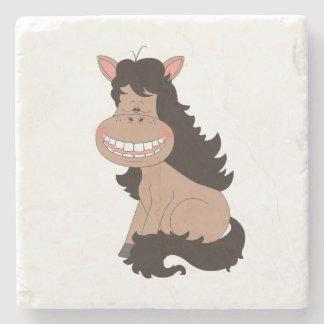Cute Pony Cartoon Stone Beverage Coaster