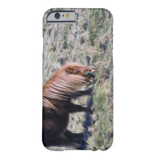 Cute pony grazing on the paddock. barely there iPhone 6 case