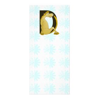 Cute Pony Monogram D 10 Cm X 23 Cm Rack Card