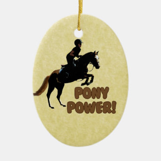 Cute Pony Power Equestrian Ceramic Ornament