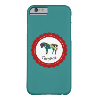 Cute Pony with Blue and Red Barely There iPhone 6 Case