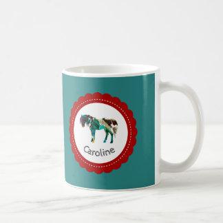 Cute Pony with Blue and Red Coffee Mug