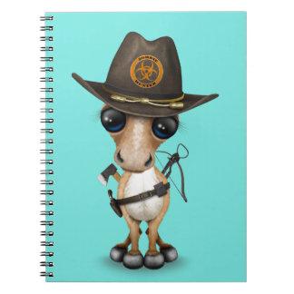 Cute Pony Zombie Hunter Spiral Notebook