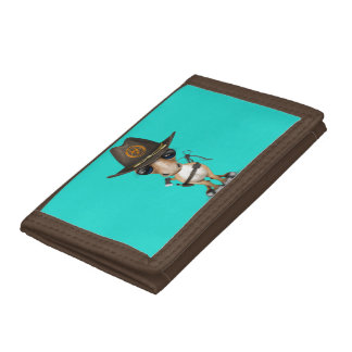 Cute Pony Zombie Hunter Trifold Wallet