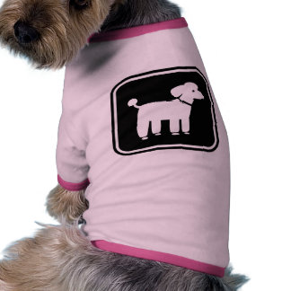 Cute Poodle Graphic Ringer Dog Shirt