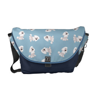 Cute Poodle Pattern Bag Messenger Bag
