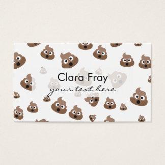 Cute Poop Emoji Pattern Business Card