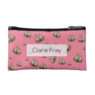 Cute Poop Emoji Pattern Cosmetic Bag