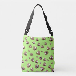 Cute Poop Emoji Pattern Crossbody Bag