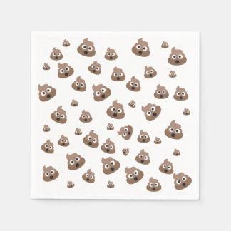Cute Poop Emoji Pattern Disposable Napkins