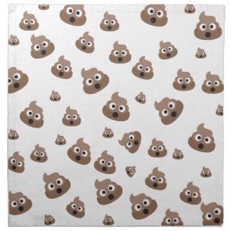 Cute Poop Emoji Pattern Napkin