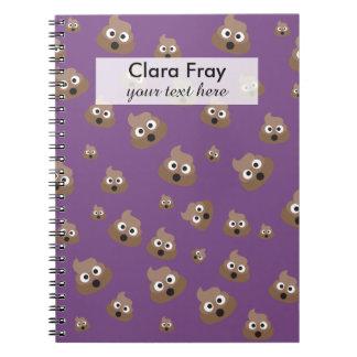 Cute Poop Emoji Pattern Notebook