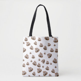 Cute Poop Emoji Pattern Tote Bag