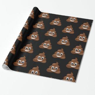 Cute poop emoji wrapping paper