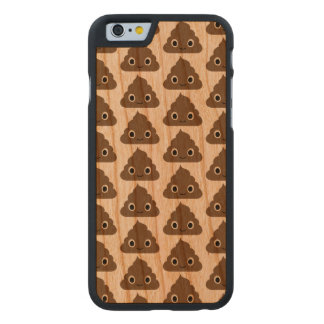 Cute Poop Pattern - Adorable Piles of Doo Doo Carved Cherry iPhone 6 Case