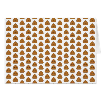Cute Poop Pattern Greeting Card