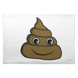 cute poop placemat