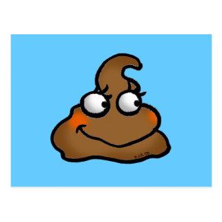 Cute poop postcard