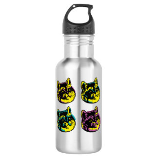 Cute Pop Art Cats Heavy Breathing Intensifies 532 Ml Water Bottle