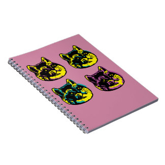 Cute Pop Art Cats Heavy Breathing Intensifies Notebooks