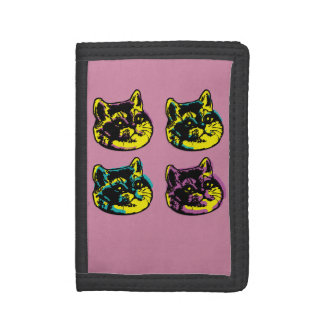 Cute Pop Art Cats Heavy Breathing Intensifies Trifold Wallet