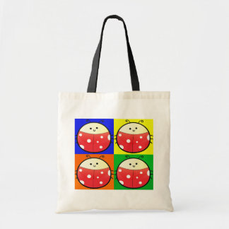 Cute Popart Ladybird Budget Tote Bag
