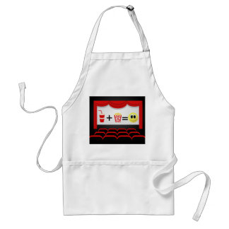 Cute popcorn business Home theater apron