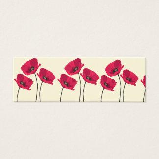 Cute poppy business card