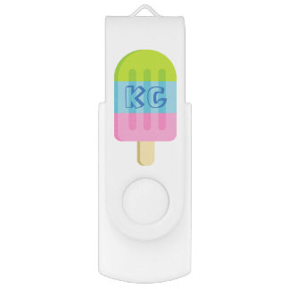 Cute popsicle ice cream USB flash drive stick Swivel USB 2.0 Flash Drive