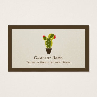 Cute Potted Cactus - Simple Clean Stylish Business Card