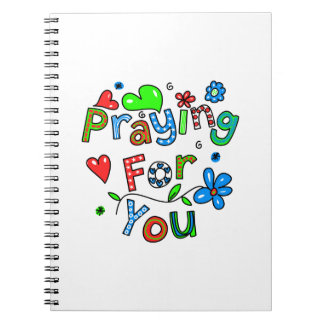 Cute Praying For You Greeting Text Expression Spiral Note Book