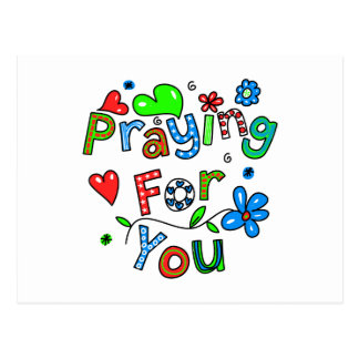 Cute Praying For You Greeting Text Expression Postcard