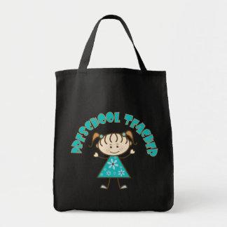 Cute Preschool Teacher Canvas Bags