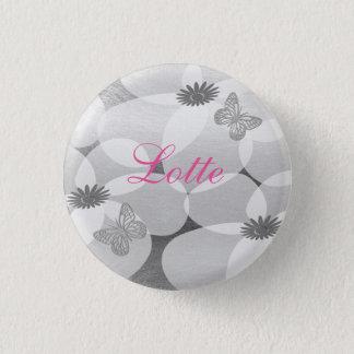 Cute Pretty Anemones Custom Floral  Badge