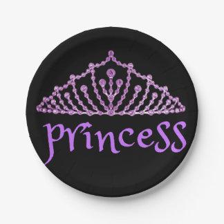 Cute Princess 7 Inch Paper Plate