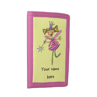 cute princess fairy tri-fold wallet