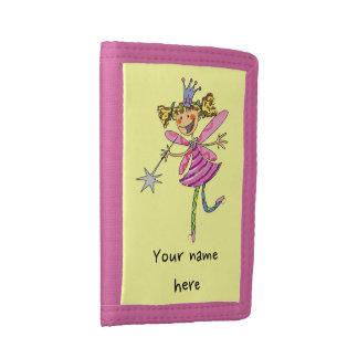 cute princess fairy tri-fold wallet