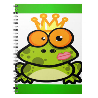 Cute Princess Frog with Golden Crown Note Book