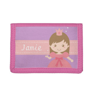 Cute Princess in Pink Little Girl Wallet