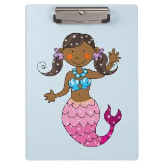 cute princess mermaid (dark hair) clipboard