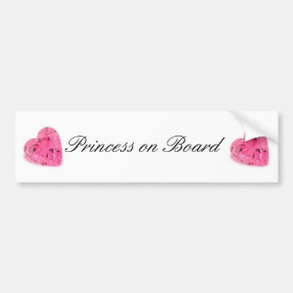 Cute Princess on Board Bumper Sticker