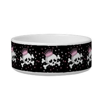 Cute Princess Skull Pet Water Bowls