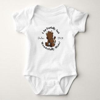 Cute Psalms 139:14 Design Baby Bodysuit
