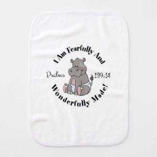 Cute Psalms 139:14 Design Burp Cloth