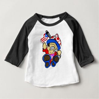 Cute Puerto Rico Character w/ Flag Baby T-Shirt