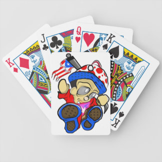Cute Puerto Rico Character w/ Flag Bicycle Playing Cards