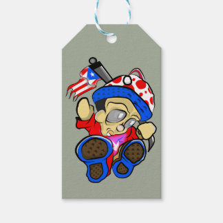 Cute Puerto Rico Character w/ Flag Gift Tags
